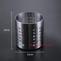 Tempat sumpit sendok sedotan stainless steel restoran murah elegan 02