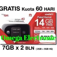 RESMI Modem Wifi Mifi 4G LTE Huawei E5577 Unlocked Free Telkomsel 14GB