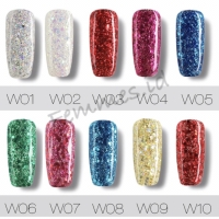 Rosalind nail gel diamond - kutek gel gliter - femmes.id
