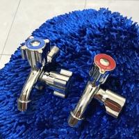 Promo Double Kran air tembok Stainless Kuningan Tuas Warna Merk Winna
