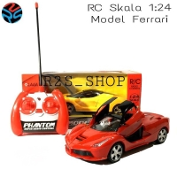 Mainan Mobil Remote Control Luxurious Ferrari Supercar Skala 1 : 24