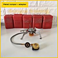 Paket Kompor Lipat Ultralight / kompor gas camping plus adapter 3000W