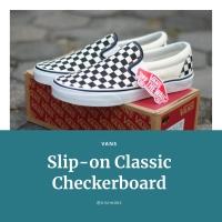 Sepatu VANS Slip-on Classic Checkerboard Black/White
