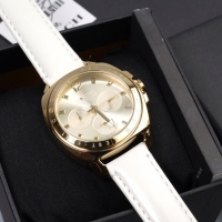 Coach Watch Leather Strap White