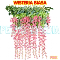 Wisteria Plastik/Bunga Plastik/Daun Rambat/Rumput Plastik/Floral Foam