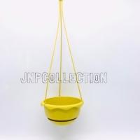 Pot bunga gantung plastik kuning