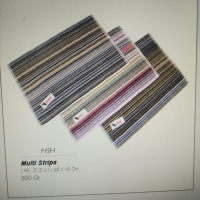 Keset handuk HSH motif strip garis-garis. Uk 40 x 60, warna Random