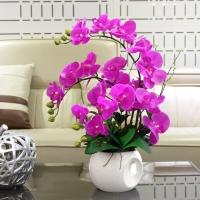Bunga ANGGREK LATEX / ANGGREK BULAN UNGU / Anggrek Artificial / Orchid