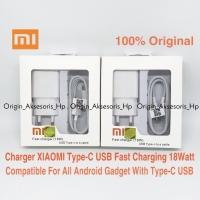 Charger xiaomi fast charging 18w type c original white casan