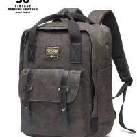 Tas ransel backpack laptop pria USB port kanvas original import