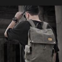 Tas ransel backpack pria fashion korea kanvas USB port import