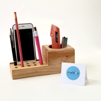 Wooden Desk Organizer Tempat Alat Tulis Tempat Pensil Tempat Handphone