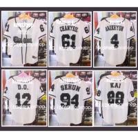 Baju Kaos Baseball Jersey EXO Kpop Best Seller Shirt - BLS