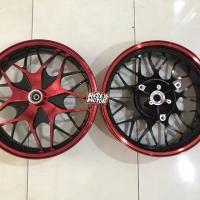 Velg NMax Moto 1 uk 14 x 250 & 350 merah
