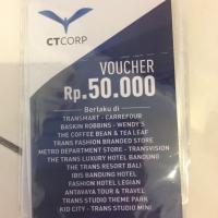 Voucher CT Corp pecahan 50.000