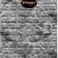 Wallpaper 3D Foam Luxury Dark Grey Brick | 70CM x 77CM