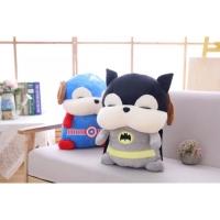 Boneka bantal Selimut Superhero, Balmut Batman & Captain america