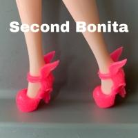 Sepatu boneka Barbie high heels bersayap