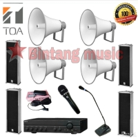 Paket Sound System Masjid TOA 4x Horn ZH 5025 BM - 4x TOA ZS 202 C