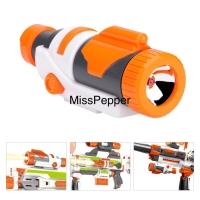 Nerf gun scope flash light blue kompatibel modulus