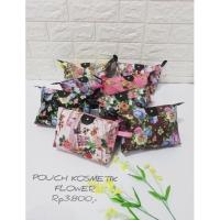 tas pouch motif tas kosmetik make up colourful