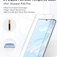 TEMPERED GLASS UV HUAWEI P30 PRO / P30 / P30 LITE FULL COVER FULL LEM