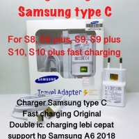 CHARGER SAMSUNG TYPE C CASAN ORIGINAL DOUBLE IC A6 A7 A8 2018 S8 S9