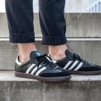 Adidas originals samba og black white