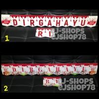 Banner DIRGAHAYU RI / Bunting Flag Hut RI / Banner Kemerdekaan / 17an