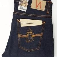 Nudie Jeans Navy Tilted Tor Dry Royal Embo