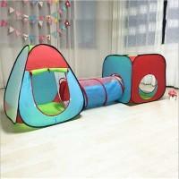 Kolam Bola Anak Terowongan Tenda Main Anak 3in1