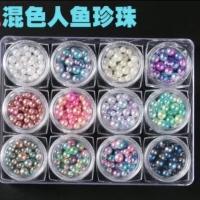 Pearl nailart acc hiasan nailart gel polish pearl colorfull diamond