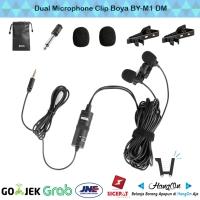 Microphone Clip BOYA BY-M1DM Camera DSLR Smartphone Dual Mic Clip On
