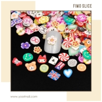 100pcs Fimo Slices fimo slice nail art case hp fimo clay hiasan kuku