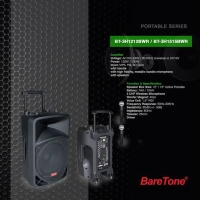 Portable Sound System 12 inchi BWR BagusFree Mic wireless