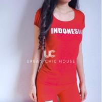 Indonesia sleeve ALLSIZE atasan senam baju senam setelan gym 