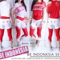 Be indonesia set ALLSIZE baju senam setelan olahraga murah setelan gym