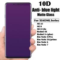 Tempered glass anti blue light 10D xiaomi redmi note 5A prime 5 6 7 pr