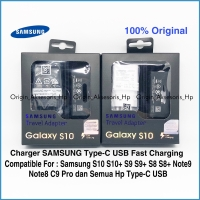Samsung Charger Fast Charging S10 S10+ S9 S9+ S8 S8+ Note 8 9 Type-C