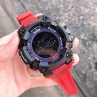 JAM TANGAN SPORT G-Shock protrex digital watch rubber merah hitam