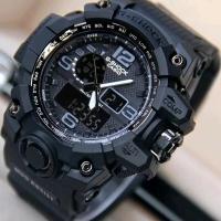 JAM TANGAN NEW G SHOCK GWG1000 Full black Dualtime