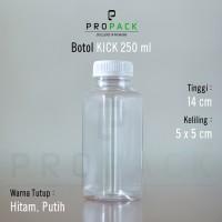 Botol Kick Square (kotak) 250ml - Botol Plastik Kotak 250ml