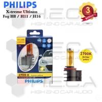Lampu Foglamp Mobil LED PHILIPS H8 / H11 / H16 Golden Yellow 2700K Fog