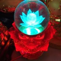 Lampu Sembayang bentuk Bunga Teratai, isi 12 lagu buddha