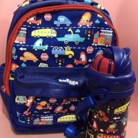 SMIGGLE SKIP PG/TK set backpack & bottle - set tas dan botol minum TK