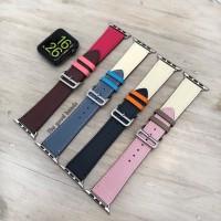 Strap tali Apple Watch 1 2 3 4 Hermes Single Leather kulit 38mm 40mm