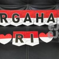 Banner DIRGAHAYU RI / Bunting Flag Hut RI / Banner Kemerdekaan Motif 3