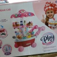 Mainan anak ice cream car gerobak es krim coin laci koin music drawer