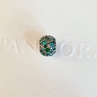Pandora Ocean Mosaic Pave Ball Charm original Silver 925 ALE