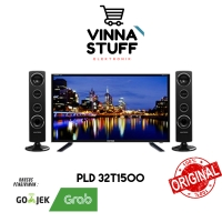 Televisi TV LED 32 Inch Polytron PLD 32T1500 CinemaX Speaker Tower